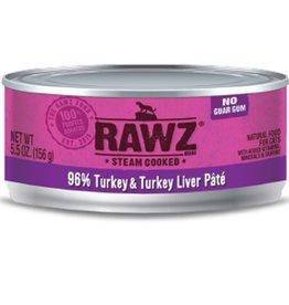 Rawz Rawz Cat Can 96% Turkey & Turkey Liver 5.5oz