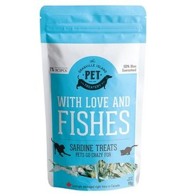 Granville Island Pet Treatery Pet Treatery With Love and Fishes Sardine Treats for Dogs & Cats 90g