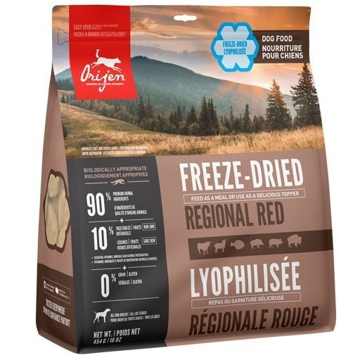 Orijen Orijen Freeze Dried Dog Food Regional Red 16oz