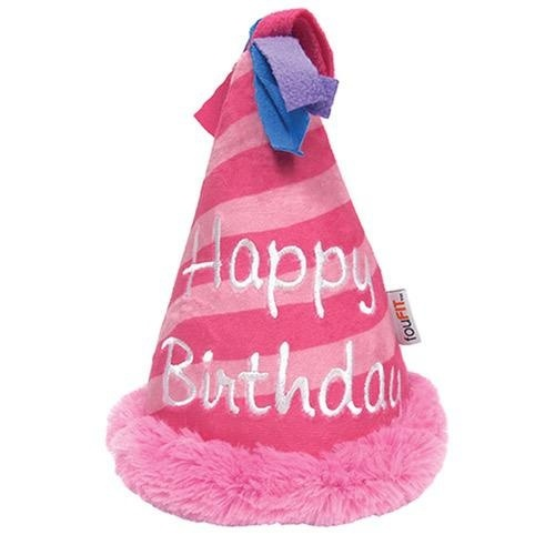 Fou Fou Dog Fou Fou Dog Plush Birthday Crinkle Hat Pink