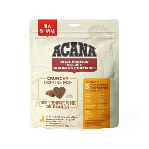 Acana Crunchy Chicken Liver Biscuits Small 255g