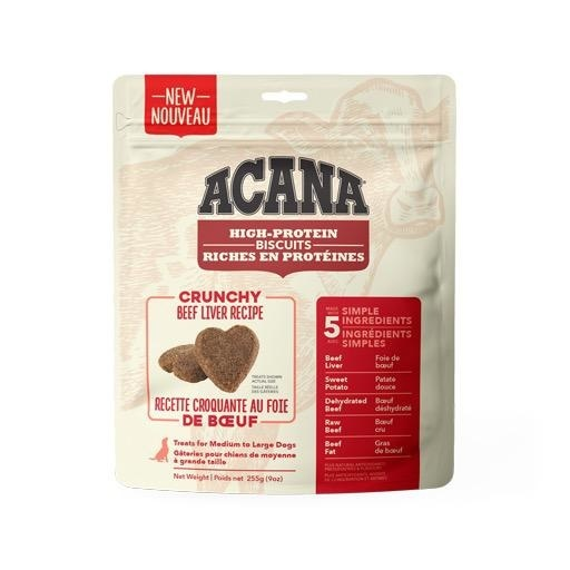 Acana Crunchy Beef Liver Biscuits Large 255g