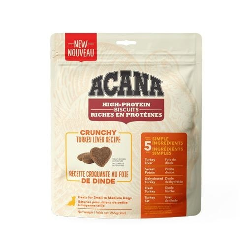 Acana Crunchy Turkey Liver Biscuits Small 255g