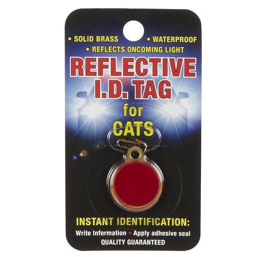 Coastal Coastal Reflective Cat ID Tag Round Red