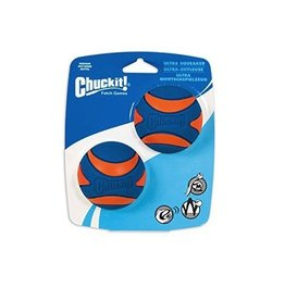 Canine Hardware Chuckit! Ultra Squeaker Ball Small 2pk