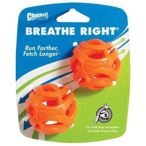 Canine Hardware Chuckit! Breath Right Fetch Ball Small 2pk