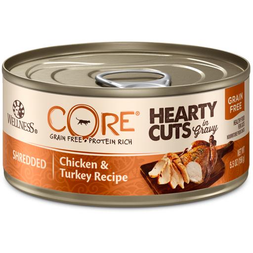 Wellness Wellness Cat CORE Hearty Cuts Shredded Chicken & Turkey 5.5oz
