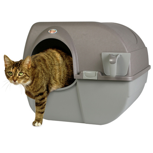 Omega Omega Paw Roll' N Clean Self Cleaning Litter Box Large Brown
