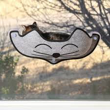 K&H K&H Kittyface Window Bed Grey