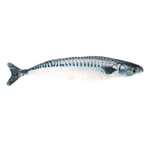 Natural Cat Toy Natural Cat Toy Catnip Plush Mackerel Cuddle Fish Toy 20cm