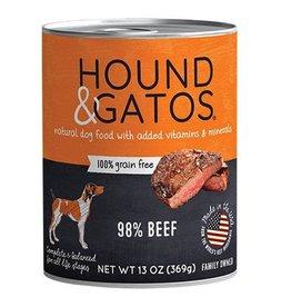 Hound & Gatos Hound & Gatos Dog Can 98% Beef 13oz