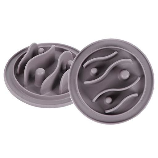 Messy Mutts Messy Cats Silicone Interactive Feeder Small Grey