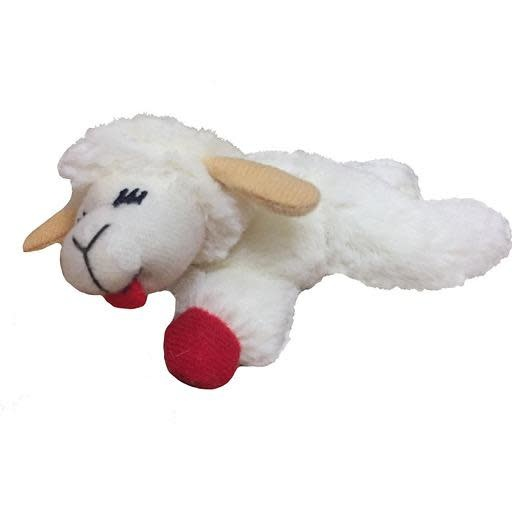 "Mulitpet Lamb Chop Catnip Toy 4"""