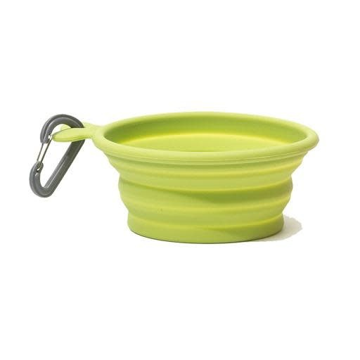 Messy Mutts Messy Mutts Silicone Collapsible Bowl Green Medium
