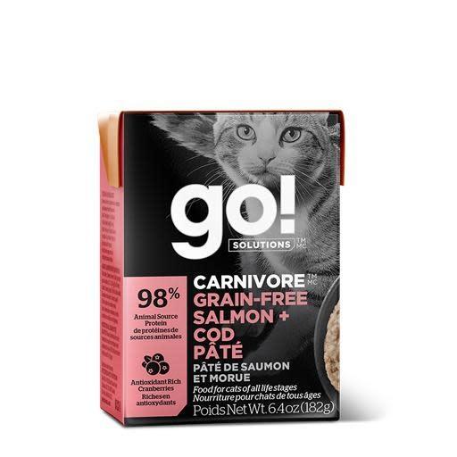 Petcurian GO! Tetra Pak Cat Salmon, Cod Paté 6.4oz