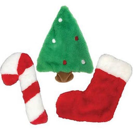Fou Fou Dog Fou Fou Dog Fuzzy Stuffless Holiday Crinkle Toy Candy Cane