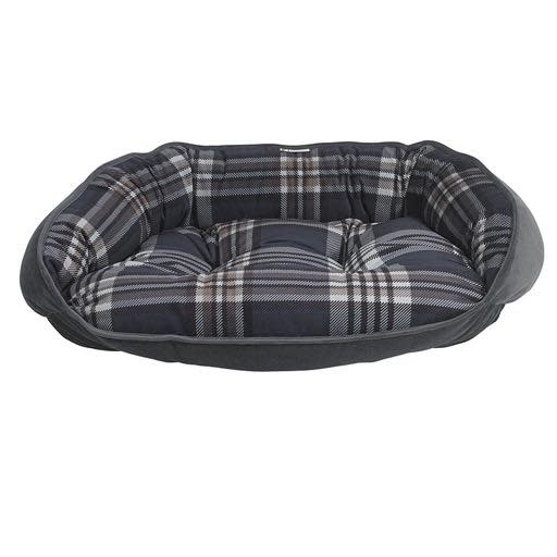Bowsers Bowsers Crescent Bed Greystone Tartan XL