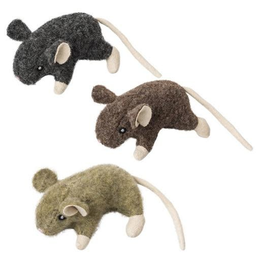 """Ethical Wool Mouse Catnip Assorted 3.5"""""""