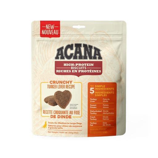 Acana Crunchy Turkey Liver Biscuits Large 255g