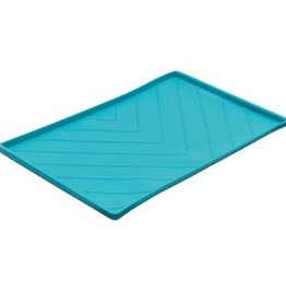 Messy Mutts Messy Mutts Silicone Mat with Metal Rods Blue Medium