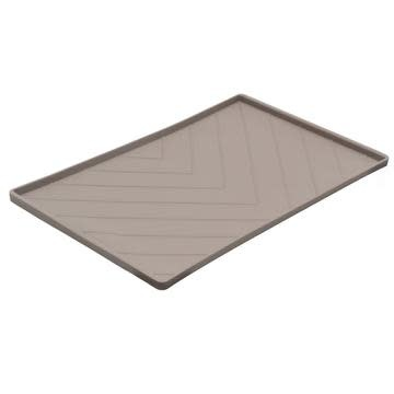 Messy Mutts Messy Mutts Silicone Mat with Metal Rods Grey Medium