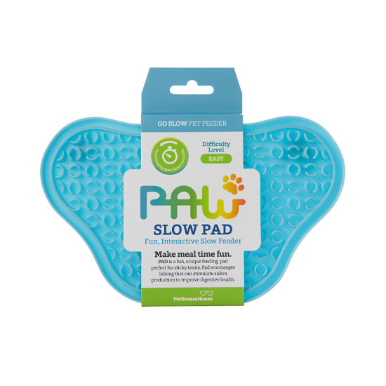 Pet Dream House Paw Lick Pad Blue