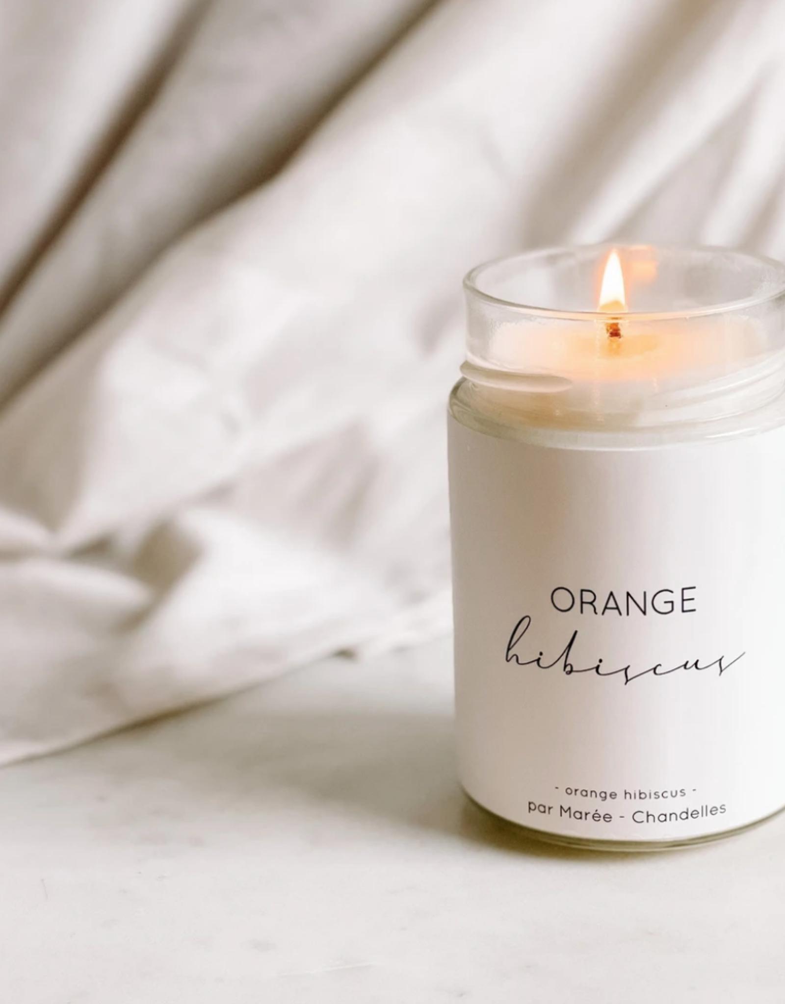 Marée Chandelles Maree - Chandelle Orange Hibiscus