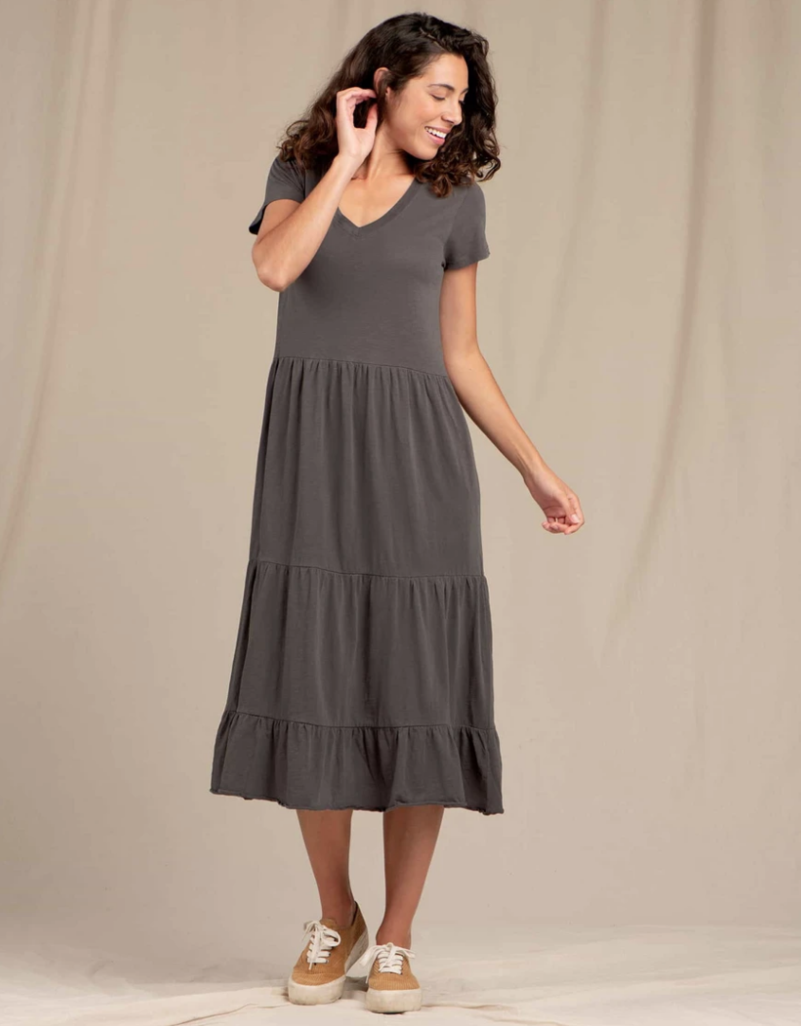 Toad&Co Toad&Co - WS PRIMO TIERED MIDI SS DRESS