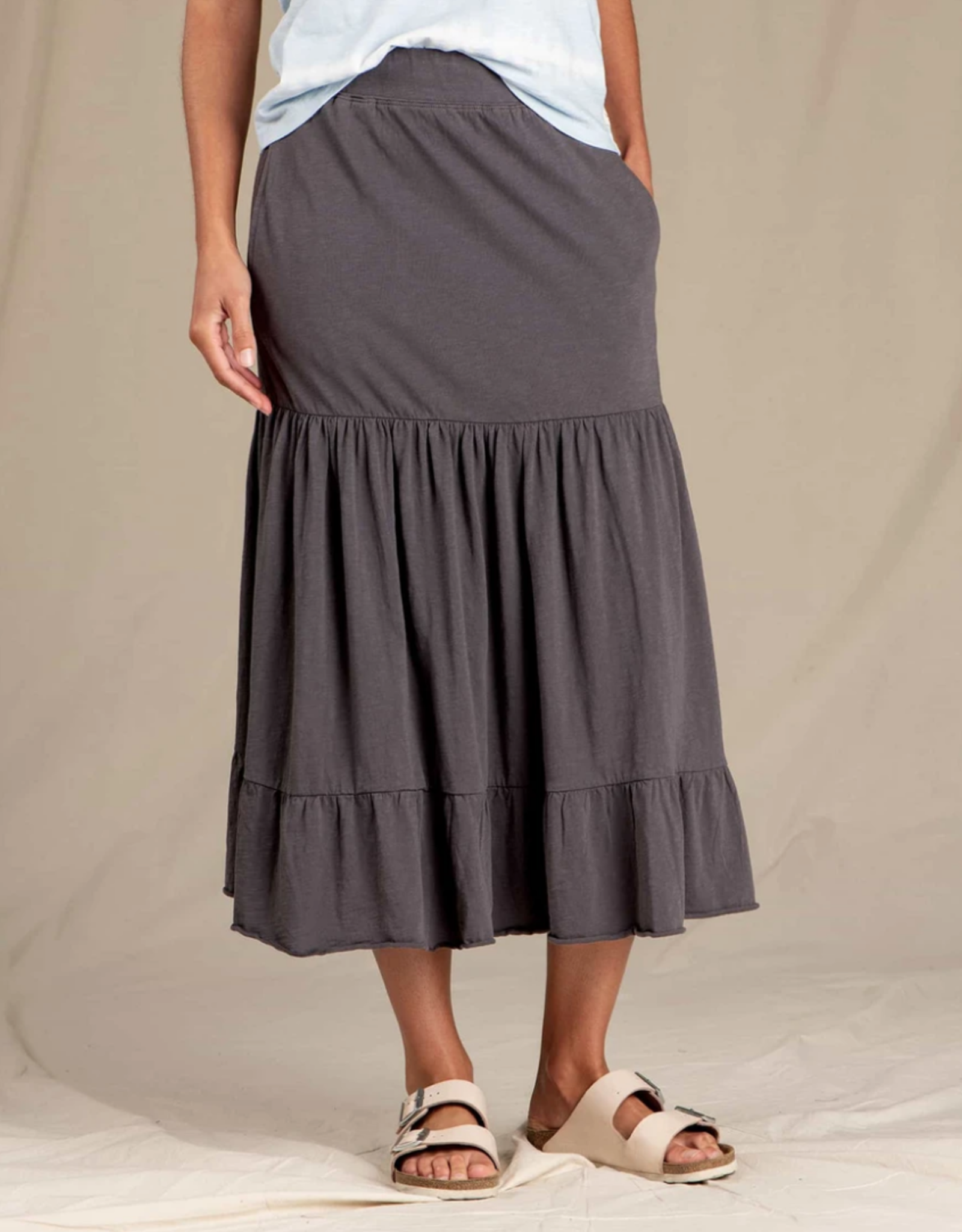 Toad&Co Toad&Co - PRIMO TIERED MIDI SKIRT