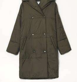 Yerse Yerse - 35608 Padded Maxi Coat with Hood