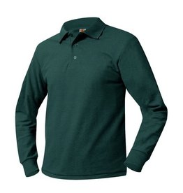 UNIFORM Pique Polo Long Sleeve Shirt  Available for the following school: St. John the Baptist Elementary School