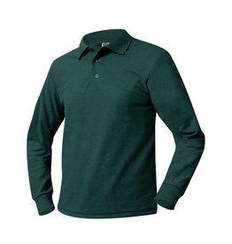 UNIFORM Pique Polo Long Sleeve Shirt, green