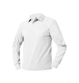 UNIFORM Unisex Polo Long Sleeve Shirt, white