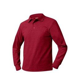 UNIFORM Polo Unisex Long Sleeve Shirt, Red, Final Sale