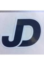 """NON-UNIFORM JD Sticker - 2.25""""x1.25"""" JD, navy/white decal"""