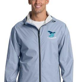NON-UNIFORM Men's Grey JD Lacrosse Rain Jacket with embroidered logo