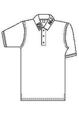 NON-UNIFORM Blank Polo Short Sleeve, Jersey Knit