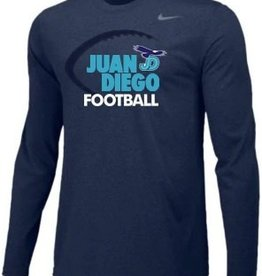 NON-UNIFORM Navy Nike JD Longsleeve Football Tee