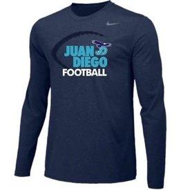 NON-UNIFORM Navy Nike JD Longsleeve Football Tee