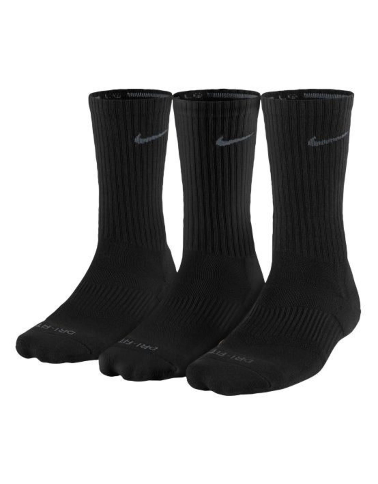 NON-UNIFORM Nike 3pk Dri-Fit 1/2 Crew Sock