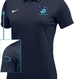NON-UNIFORM Women's Football Nike Polo Navy