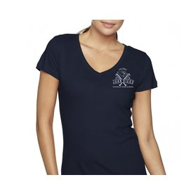 NON-UNIFORM Softball Navy V-neck Tee