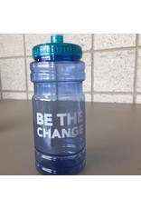 NON-UNIFORM Be The Change, blue/teal water bottle w/spot