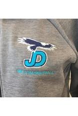 NON-UNIFORM Custom - Ladies tonal full zip jacket w/JD eagle logo, grey w/navy