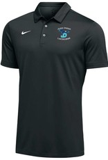 NON-UNIFORM Grey Nike Polo with Embroidered Lacrosse Logo