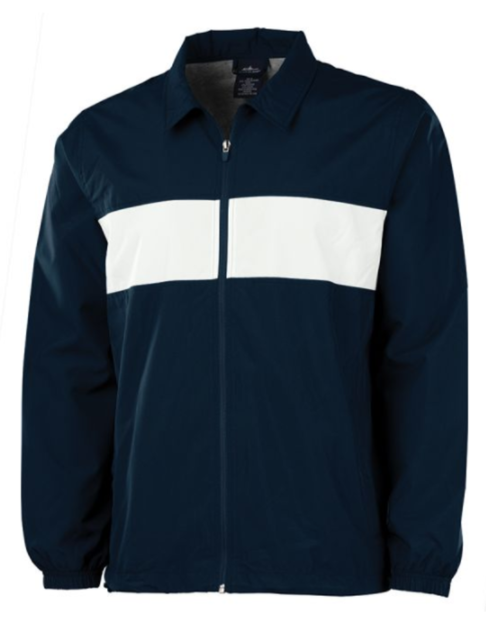 NON-UNIFORM JACKET - Striped Sideline Jacket, custom, Navy/White