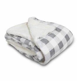 NON-UNIFORM JD - Micro Mink Sherpa Blanket-Gray Buffalo
