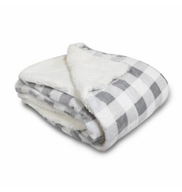 NON-UNIFORM JD - Micro Mink Sherpa Blanket-Gray Buffalo
