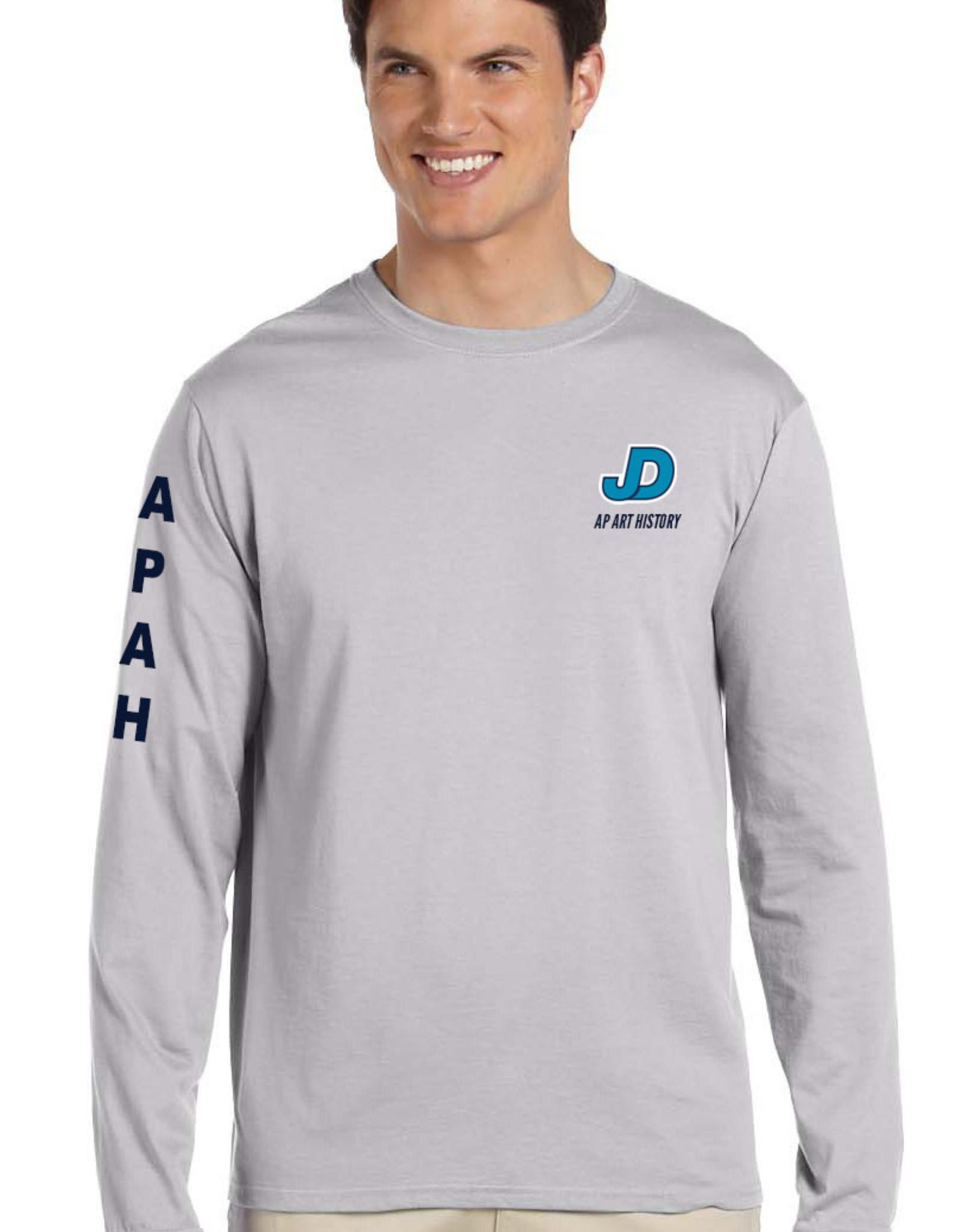 NON-UNIFORM JD AP Art History Unisex Long Sleeve Shirt, Gray