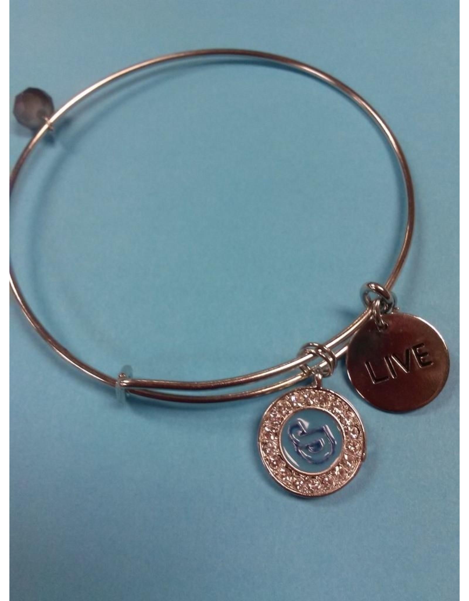 NON-UNIFORM JD Charm Bracelet, Sterling Silver